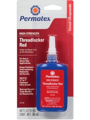 Permatex 27140 High Strength Threadlocker Red