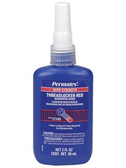 Permatex 27183 High Strength Threadlocker Red